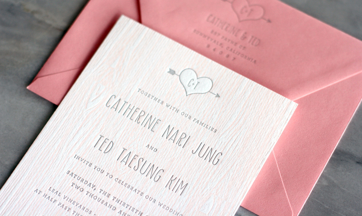Pink-Faux-Bois-Letterpress-Wedding-Invitations-Truly-Smitten-Studio6