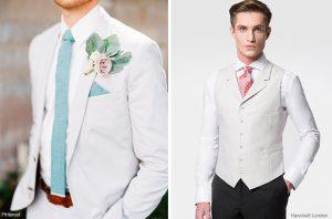 trajes de novio blancos